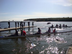 Busy Docks at GRC University Regatta